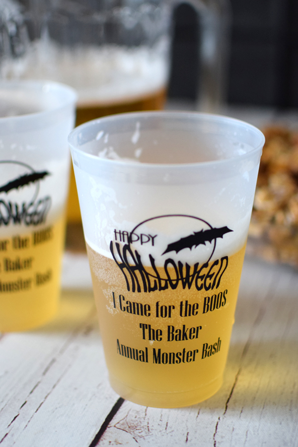Personalized plastic frosted cups Halloween